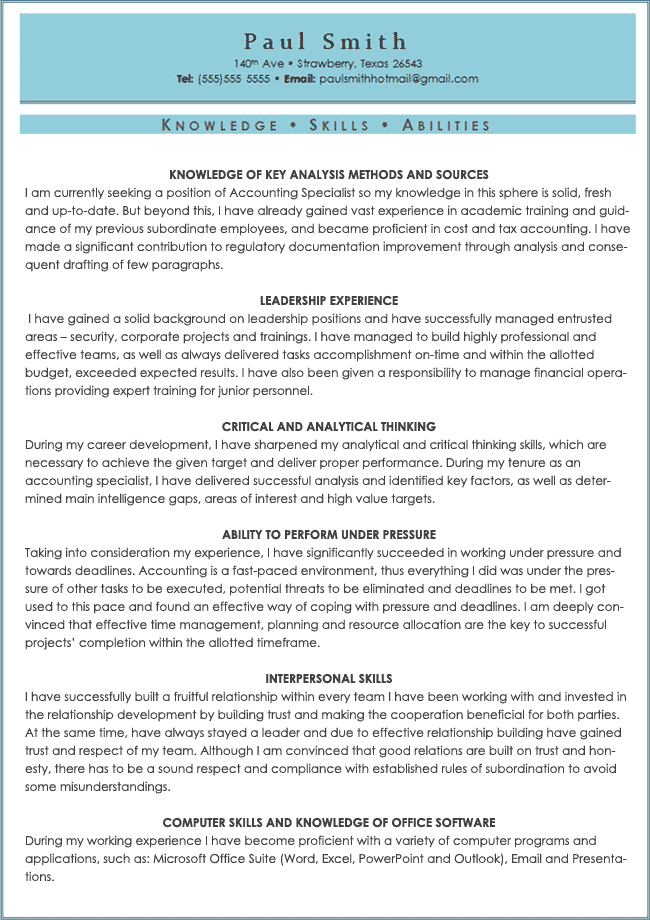 skills abilities for resume examples - Resume Examples Skills And Attributes